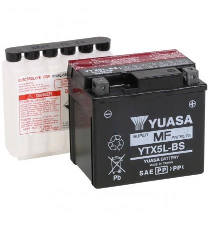 BATERIA YUASA YTX5LBS   12V 114 MM X 71,12 MM X 104,14 MM