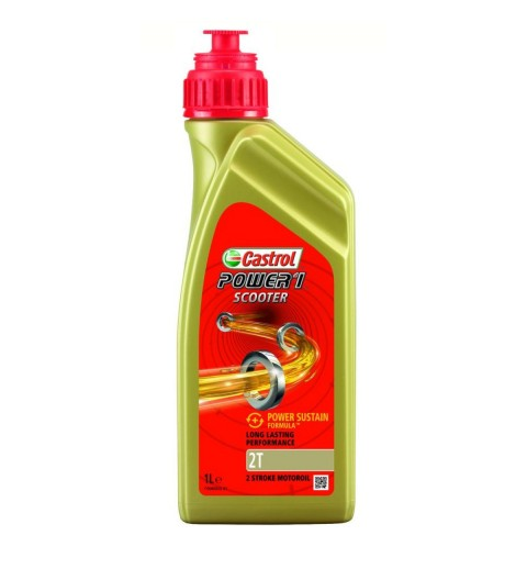 ACEITE MOTOR 2T CASTROL POWER 1 SEMI SYNTHETIC (MEZCLA) 1 LITRO
