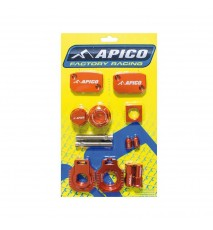 CONJUNTO PIEZAS ANODIZADAS APICO  BLING PACK EXC250/300(14-17) EXC-F250/350/450/500(14-17) Naranja