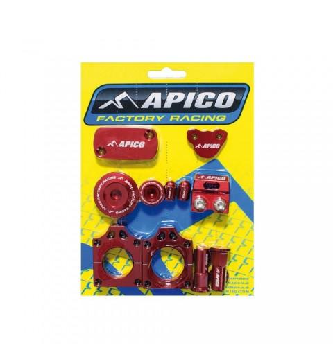 CONJUNTO PIEZAS ANODIZADAS APICO FACTORY BLING PACK HONDA CRF450X(05-17) Rojo