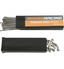 "RADIOS ACERO INOXIDABLE 19 ""TRAS. MOOSE RACING"